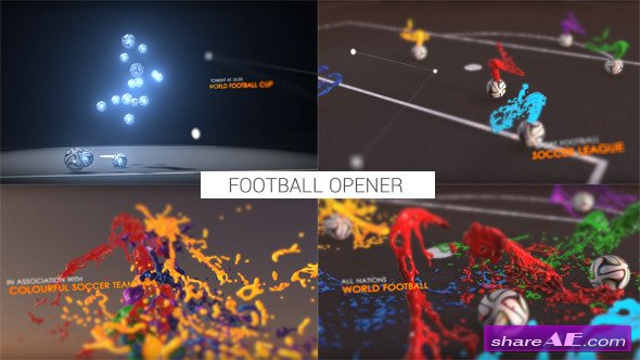 Videohive Colourful Football Opener - After Effects Templates