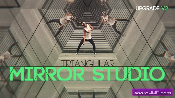 Videohive Triangular Mirror Studio - After Effects Templates
