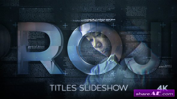 Videohive Titles Slideshow - After Effects Templates