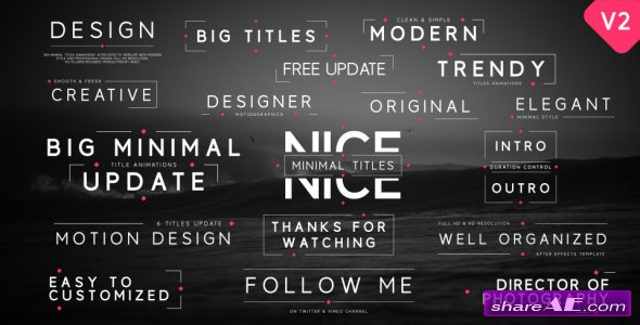 Videohive Big Minimal Titles - After Effects Templates