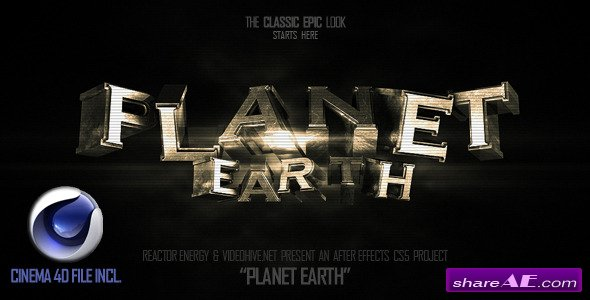Videohive Planet Earth - After Effects Templates