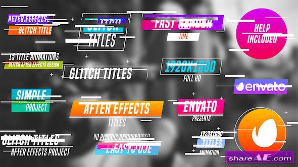 Videohive Colourful Glitch Titles