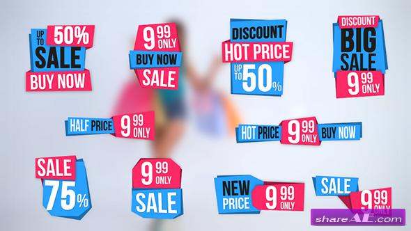 Videohive 10 Sales Label