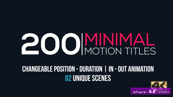 Videohive Minimal Motion Titles Pack