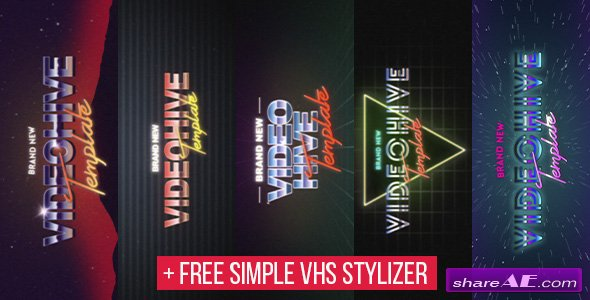 Videohive 5 VHS Title Opener Pack