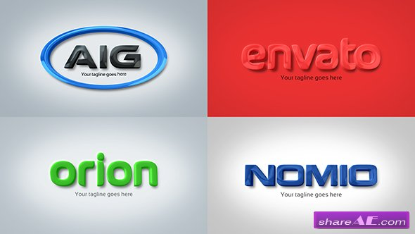 Videohive Strong & Clean Corporate 3D Embossed Logo