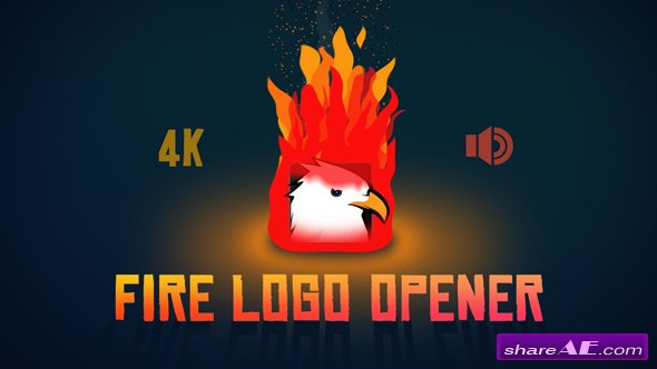 Videohive Fire Logo Opener