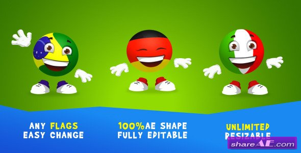 Videohive Soccer-ball Character