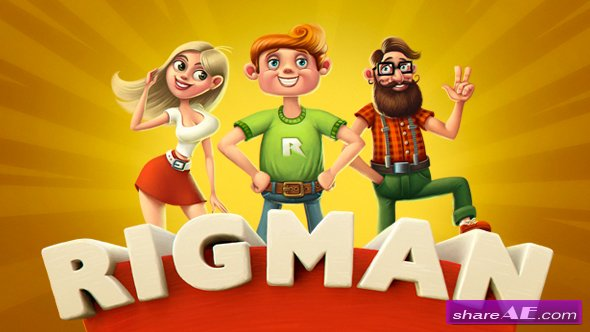 Videohive Rigman - Complete Rigged Character Toolkit