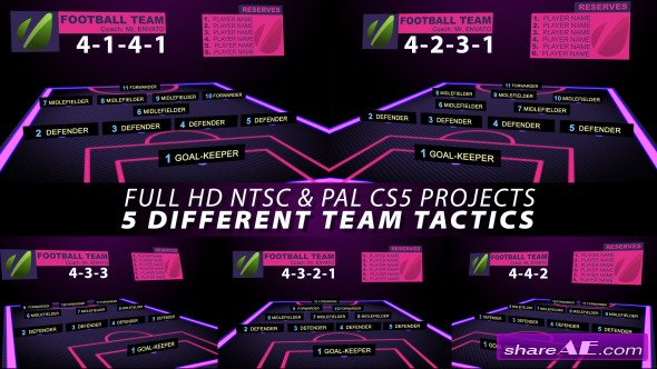 Videohive Football Team Tactics