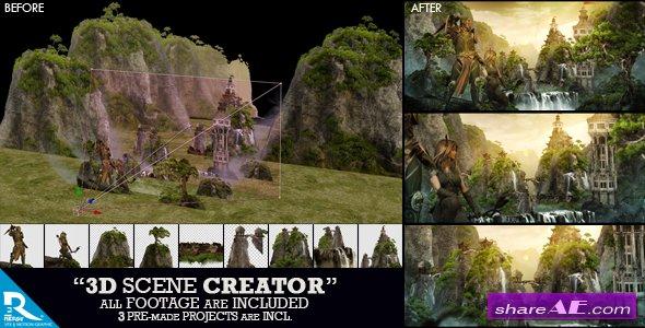 Videohive 3D Scene Creator Kit