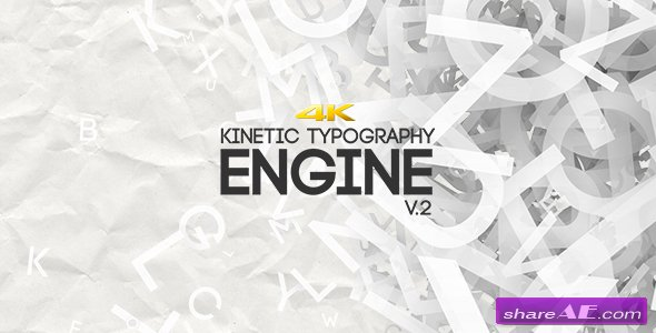 Videohive Kinetic Typography Engine V2 4K