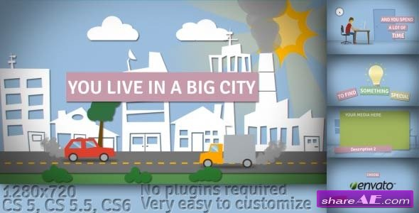 Videohive Big City - Cartoon Promo