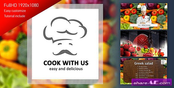 Videohive Cook With Us - Cooking TV Show Pack