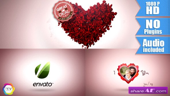 Videohive Valentine Day with Rose Petals