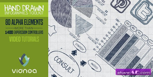 Videohive Hand Drawn Infographics Toolkit