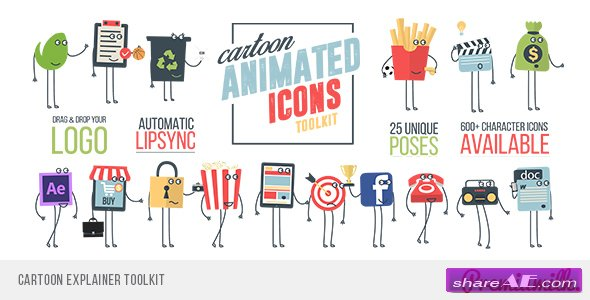 Videohive Cartoon Explainer Toolkit
