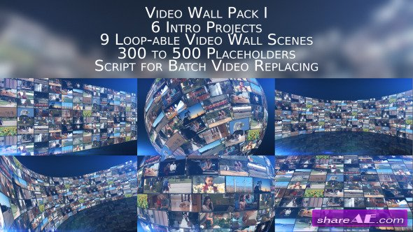 Videohive Video Wall Pack I