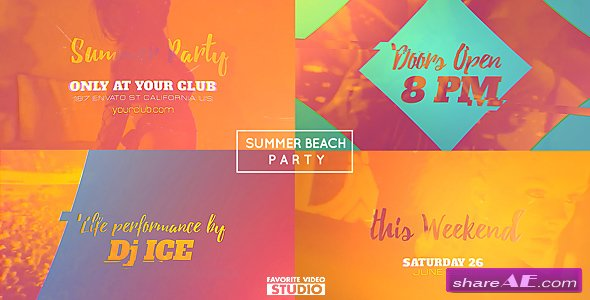 Videohive Summer Beach Party 2016