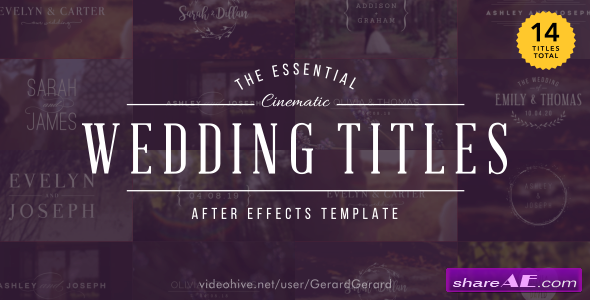 Videohive Wedding Titles 15927020