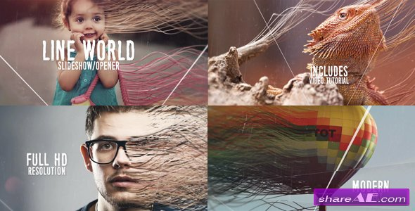 Videohive Line World Slideshow