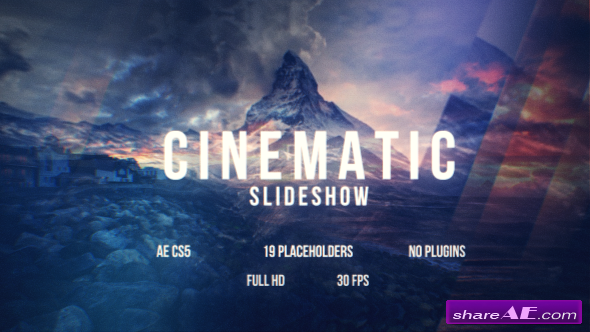 Videohive Cinematic Slideshow 16382418