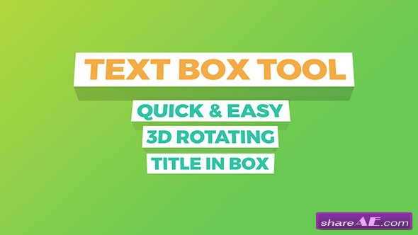 VIDEOHIVE Text Box Tool