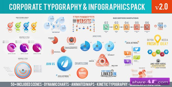 Videohive Corporate Typography & Infographics Pack