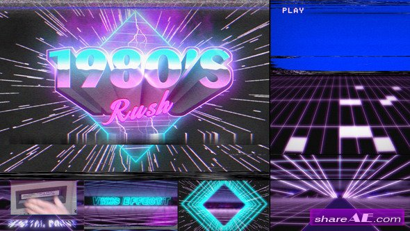 Videohive 1980's Rush Template » free after effects