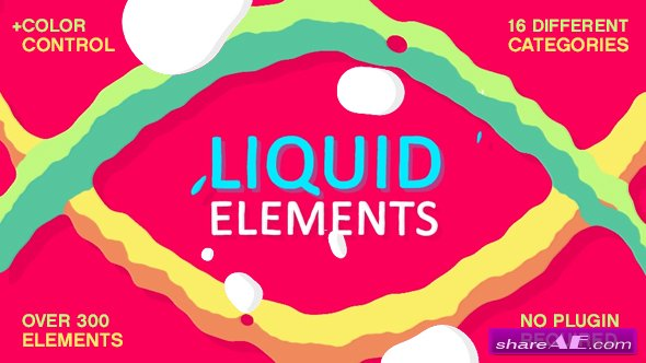 Videohive Liquid Elements FX