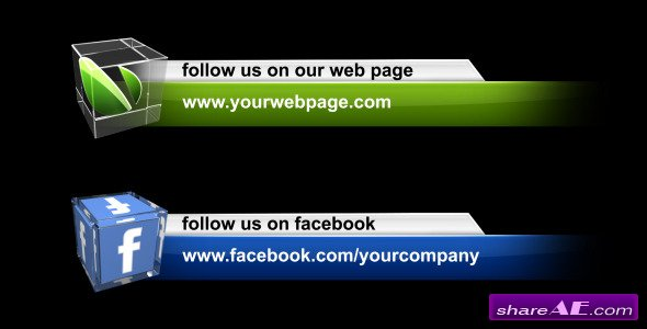 Videohive Social Media Lower Third Pack