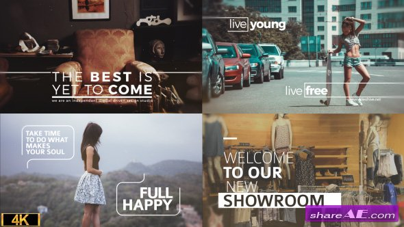 Videohive Minimal Big Titles Slides
