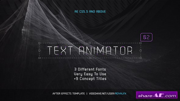 Videohive Text Animator 02: Stylish Clean Titles