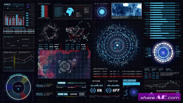 Videohive Sci-fi Interface HUD