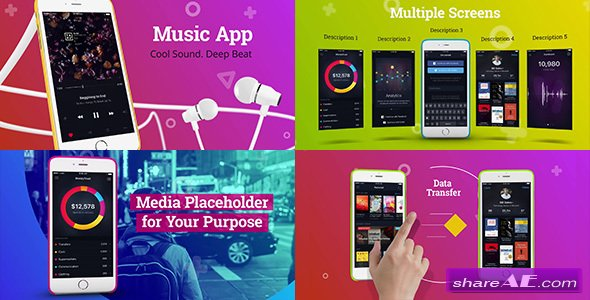 videohive colorful app promo free after effects templates after effects intro template shareae. Black Bedroom Furniture Sets. Home Design Ideas