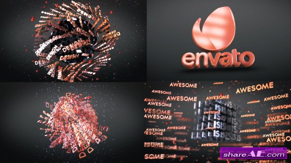 Videohive 3D Text Shapes Logo Reveal