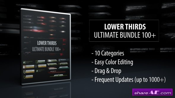 Videohive Lower Thirds - Ultimate Bundle 100+