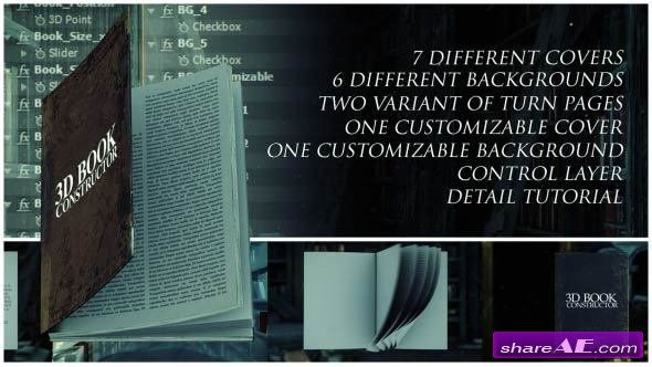 Videohive 3D Book Constructor
