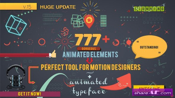 Shape Elements v16 7826596 - After Effects Project (Videohive)
