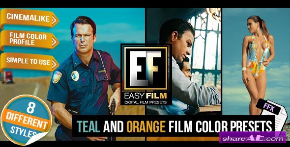 Videohive Easy Film - Professional Footage Color Presets