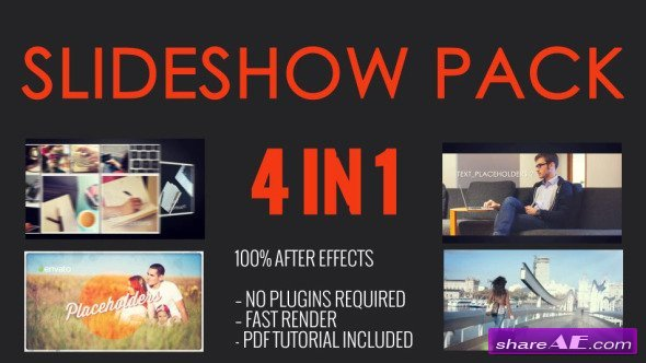 Videohive SlideShow Pack 4 in 1