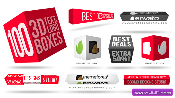 Videohive 3D Text & Logo Boxes » free after effects