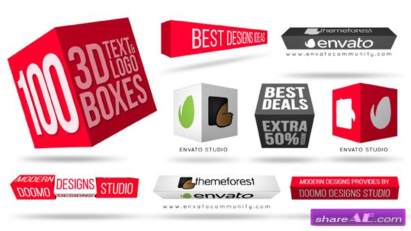 Videohive 3D Text & Logo Boxes