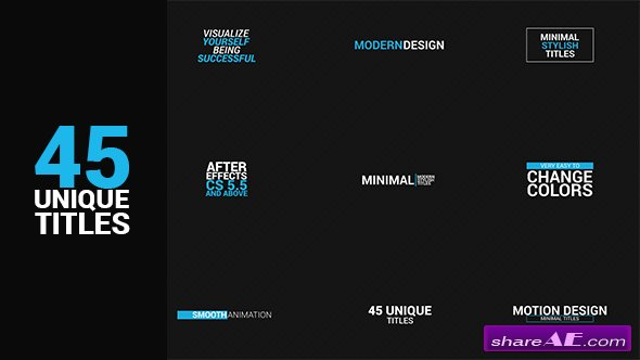 Videohive 45 titles package