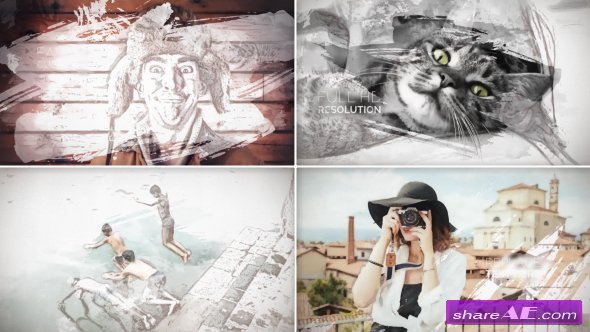 Videohive Painted Slideshow
