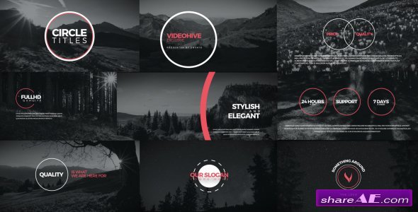 Videohive Circle Titles