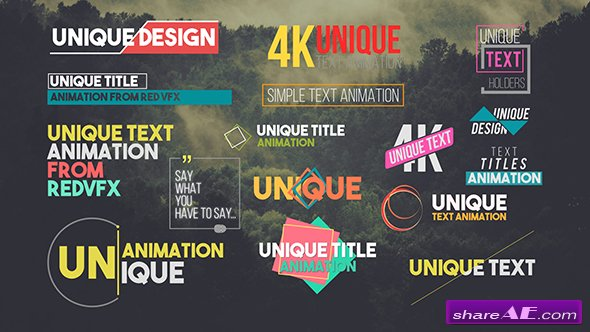 Videohive 31 Unique Titles Pack