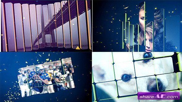Videohive 3D Split Slideshow