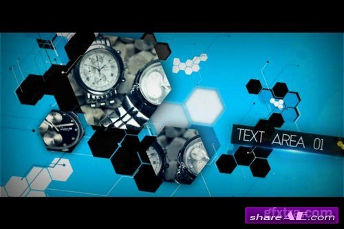 Hexagon Template - After Effects Template (MotionVFX)
