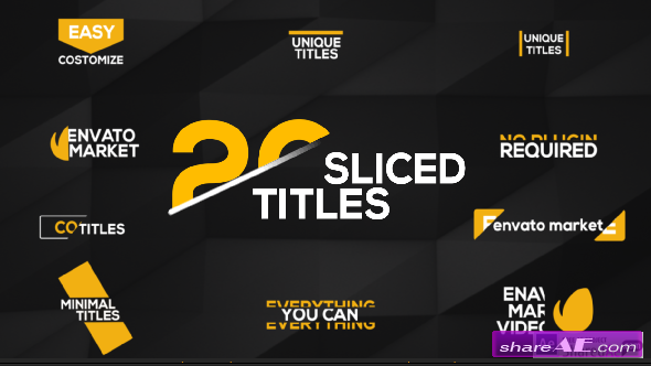Videohive 20 Sliced Titles Pack